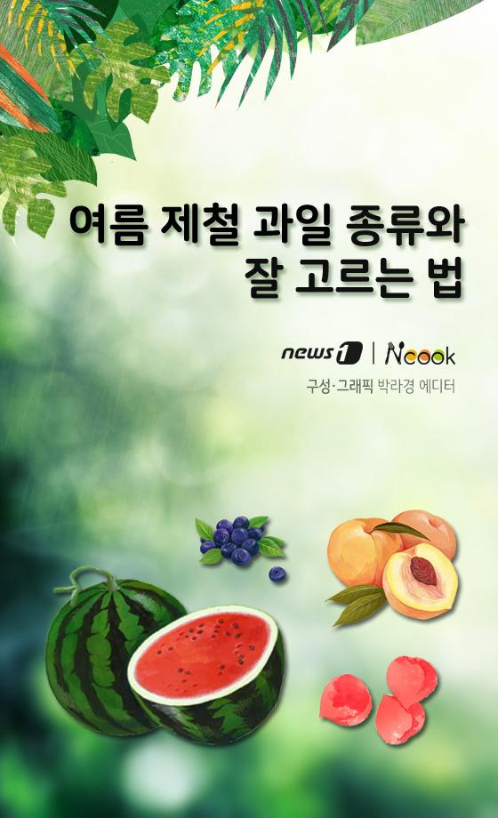 [카드뉴스][건강N쿡] 여름 제철 과일 종류와 잘 고르는 법