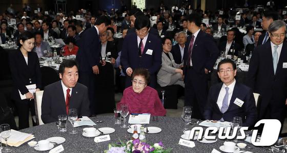6·15 남북정상회담 기념식 참석한 이희호 여사