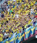 압도적 응원 펼치는 스웨덴