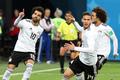 월드컵 첫 골 기뻐하는 살라