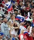 응원하는 러시아 미녀들