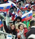 기뻐하는 러시아 여성들