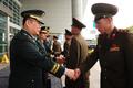 남북 군사실무접촉 수석대표 '악수'