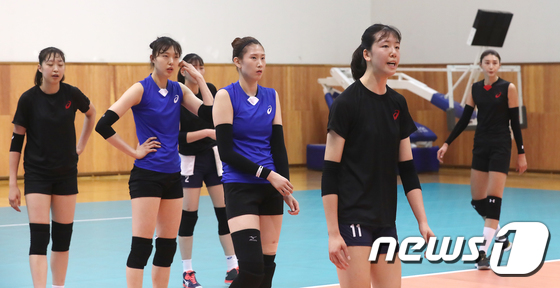 구슬땀 흘리는 여자배구 국가대표 선수들