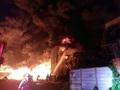인천 서구 합성수지 공장 화재...불길 확산중