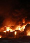 불기둥 치솟는 인천 소재 합성수지 공장