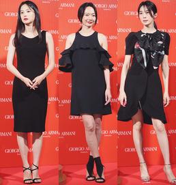 윤승아-배두나-이청아, 블랙 드레스룩 대결 '고혹미 뿜뿜'
