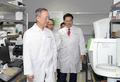 외국인투자기업인 바커케미칼코리아 시설 둘러보는 백운규 장관