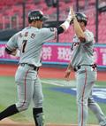 '송광민 홈런' 1회부터 득점하는 한화