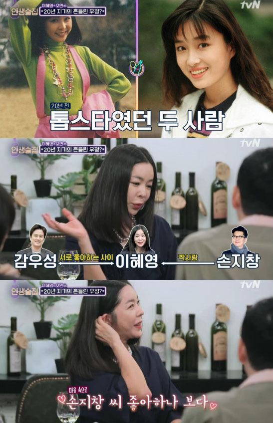 """'인생술집' 이혜영 """"과거 손지창 흠모해 광고 출연까지"""""""