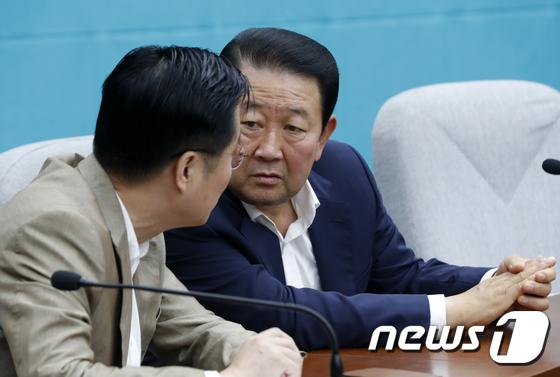 대화하는 박주선·이태규