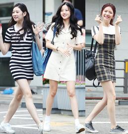 '프로듀스48' 장원영부터 사쿠라까지...韓日 연습생 출근길 패션