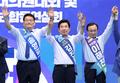 지지 호소하는 민주당 당대표 후보들