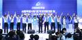 인사하는 더불어민주당 당대표·최고위원 후보들