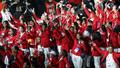 개최국 인도네시아 선수들의 환호