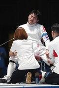 박상영 '무릎 부상으로 아쉬운 은메달'