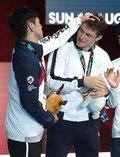 은메달 박상영의 축하