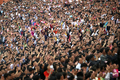 문 대통령 연설에 박수치는 평양 시민들
