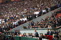 평양 시민들 앞에서 연설하는 문재인 대통령