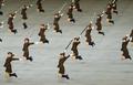 한치의 흐트러짐 없는 북한 공연단