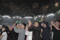 평양 시민들 '문재인 대통령 연설에 환호, 박수'