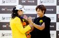 박세리 축하받는 김아림