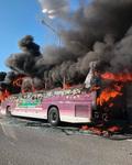 덕평휴게소 인근 시외버스 화재