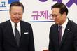 국회서 만난 홍영표-박용만