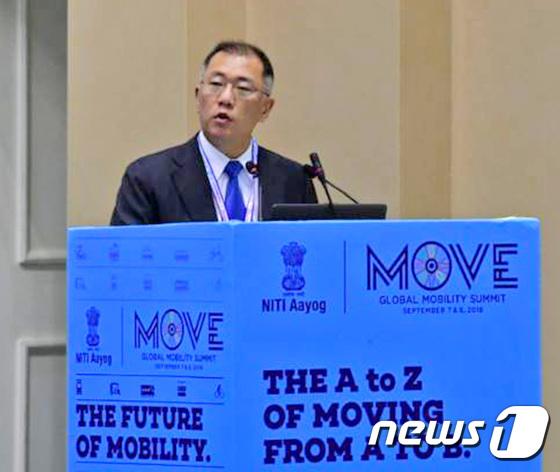 정의선 현대차 부회장, 인도 무브 서밋 기조 연설