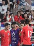 중국에 2대 0으로 승리한 대표팀