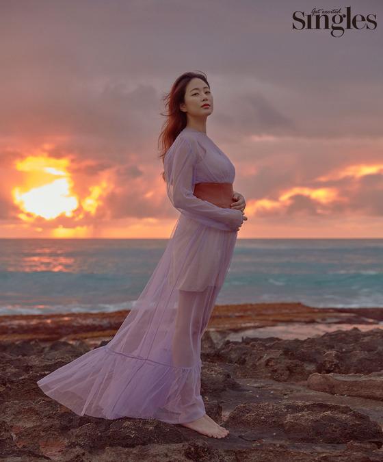 김효진, '임신 6개월 차' 모습 공개