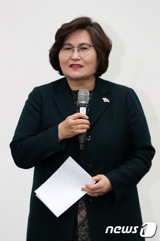 인사말하는 문미란 서울시 여성가족정책실장