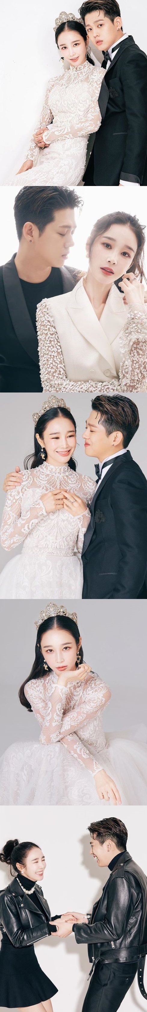 [N샷] 이사강♥론, 11세 연상연하 맞아? 눈부신 웨딩화보 공개
