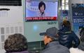 손혜원 기자회견 보는 목포 시민들