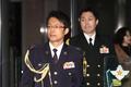 굳은 표정으로 국방부 나서는 나가시마 토루 주한 일본 무관