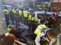 부산 재개발 반대집회서 교통사고...24명 부상