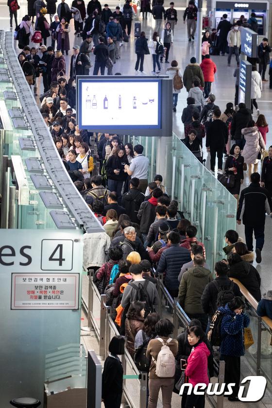 인천공항, 겨울 성수기 최초 일 평균 20만 명 이용