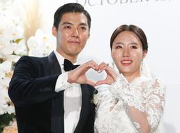 '웨딩마치' 강남-이상화 …