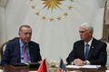 [사진] 시리아 휴전 논의하는 터키 대통령과 펜스 美 부통령