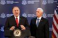 [사진] 터키 대통령과 회담후 기자회견하는 펜스와 폼페이오