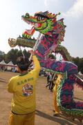 '중국 전통 용춤 구경하세요'