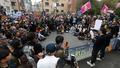 '인헌고 앞에 모인 보수단체들'