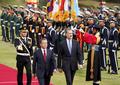 의장대 사열하는 문재인 대통령·펠리페 6세 국왕