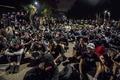 [사진] 홍콩 중문대학서 연좌집회하는 시위대