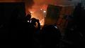 경찰 진압과정서 화재 발생