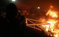정문 입구에 화재 발생한 이공대