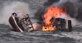 침몰하는 차귀도 화재 선박