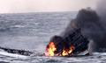 침몰 중인 차귀도 화재 선박