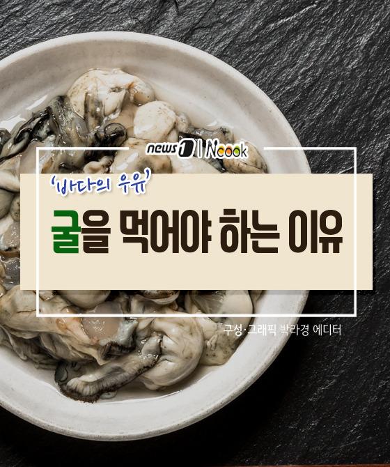 [카드뉴스][건강N쿡] '바다의 우유' 굴을 먹어야 하는 이유