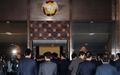 본회의장으로 향하는 민주당 의원들